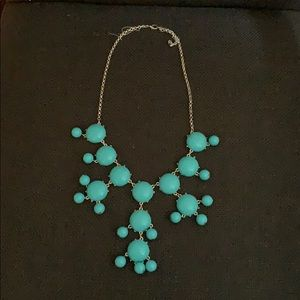 Turquoise and Silver Bubble Necklace
